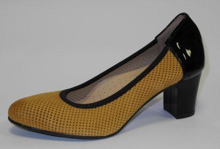 J-3844-5-žltá-nubuk-čierna-lak